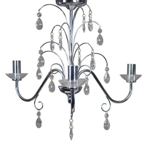 Madisson 3 Light Fitting Chrome, Ceiling Lights, Dunelm