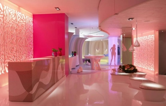 Futuristic Living Room Interior Design Concept by Karim Rashid_image