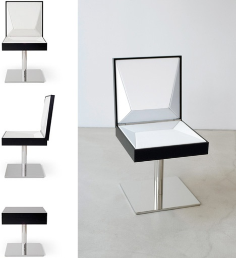 Coffee Table Transforms to a Leather Chair_image