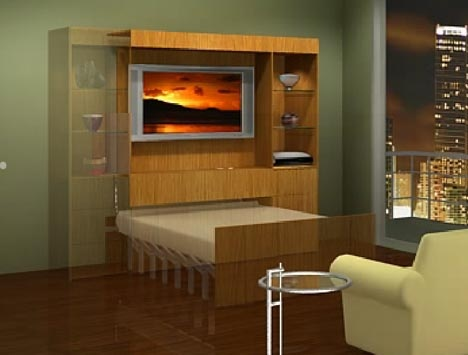 Automatic Roll-Out Remote-Control Hidden Wall Beds_image