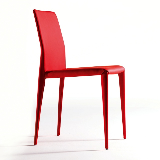 Bruno modern italian dining chair low back dining chairs for Modern low back dining chairs