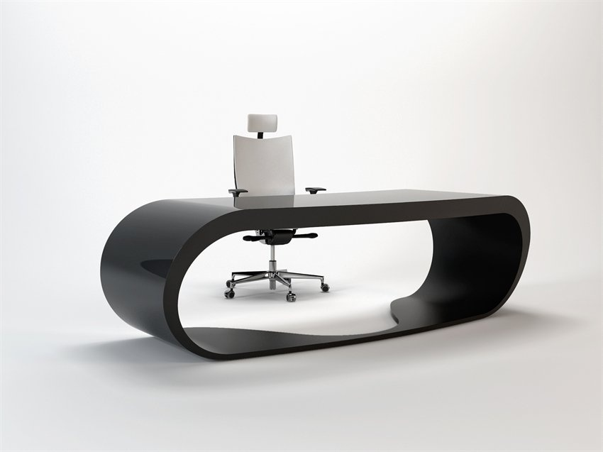 Office Desk That Looks Like Goggles_image