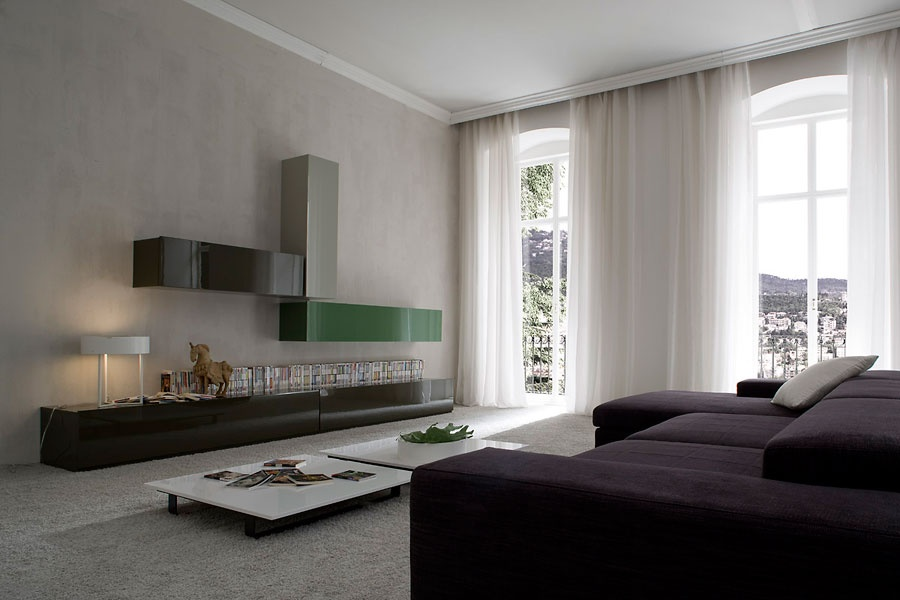 Glossy Living Room Furniture from Italy_image