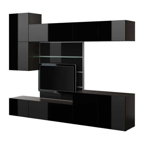Modern IKEA BESTÅ TV Panel With Media Storage_image