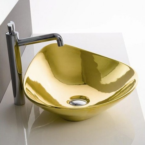 Gold Colored Bathroom Fiztures by Scarabeo Brighten Your Bathroom_image