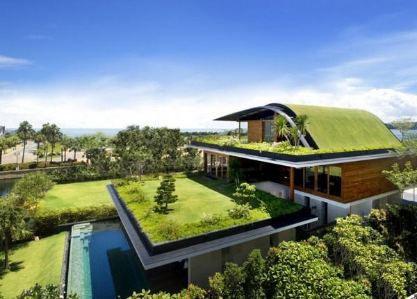 Inspiring Home with One Garden per Level in Singapore_image