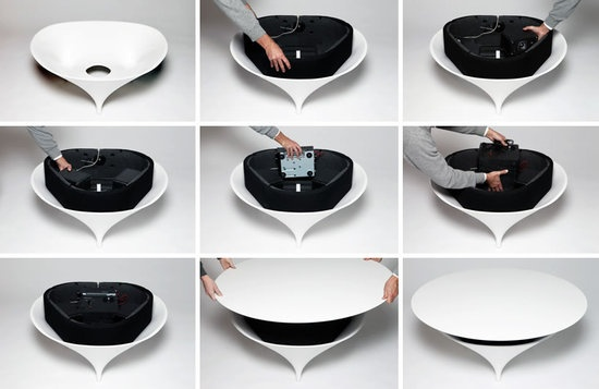The Acoustable Coffee Table With Sound System_image