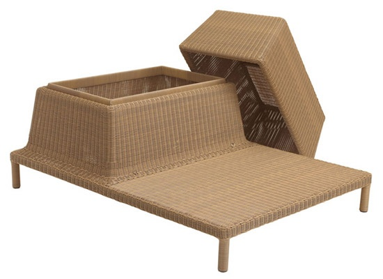 Unusual Looking Sun Lounger With Storage Basket – Fatback Sunlounger_image