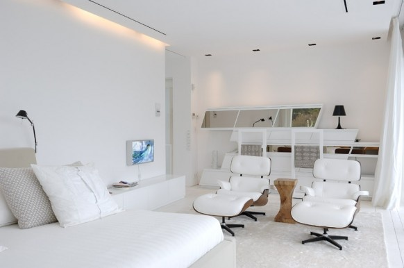 Beautiful All White House With Pool_image