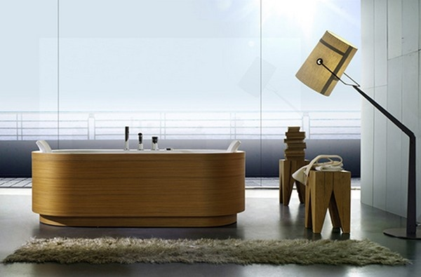 Incredible Looking Wooden Tub Paneling from BluBleu_image