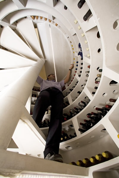 Put Your Wine in a Fancy Spiral Wine Cellars_image
