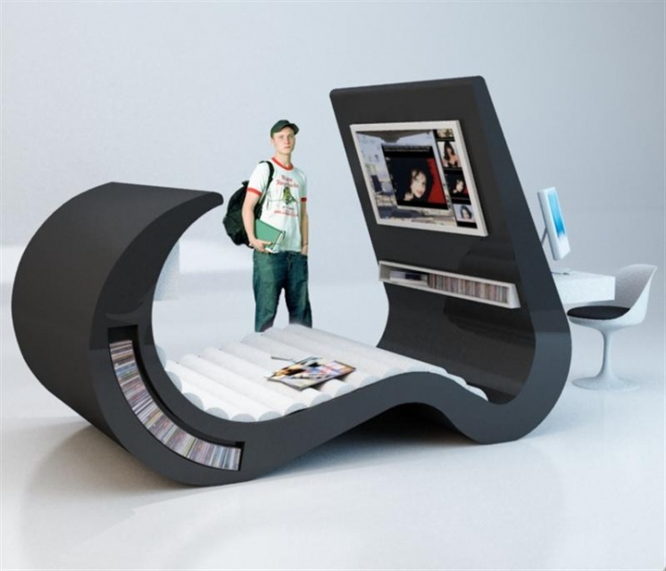 futuristic beds for people with specific taste. Black Bedroom Furniture Sets. Home Design Ideas