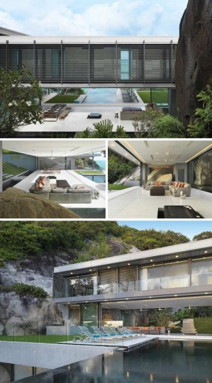 Cliff-Hanging Home has Incredible Cantilevered Infinity Pool_image