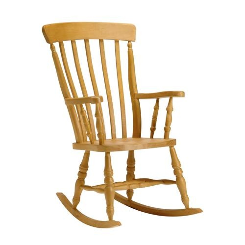 High Back Slat Rocking Chair, Living room chairs , Pine Solutions ...