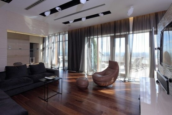 Luxury Penthouse Apartment With Amazing Deck In The Center of Moscow_image