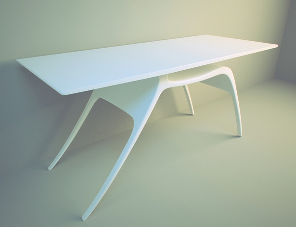 Writing Desk Inspired by the Grace of a Deer_image