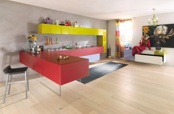 Kitchen Designs with Colorful Kitchen Cabinet Combinations_image