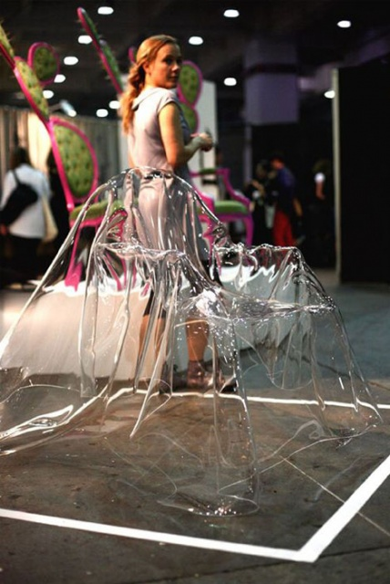 Ghost Chairs: Unique See-Through Polyester Sheet Seating_image