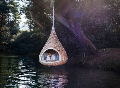 Nest Rest: Huge Hanging Birdhouse-Shaped Hut for Humans_image