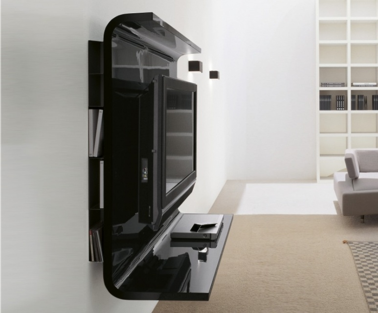 glass wall unit with porta tv unit image1