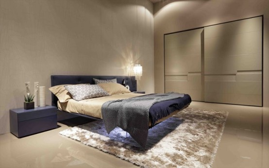 Futuristic Minimalist Bed Supported by Transparent Panel – Wing Bed by Presotto_image