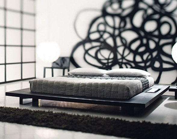 Contemporary Platform Bed Design with Japanese Idea by GERVASONI_image