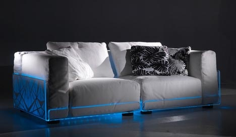 LED Sectionals: Living Room Sofas + Built-In Mood Lighting_image