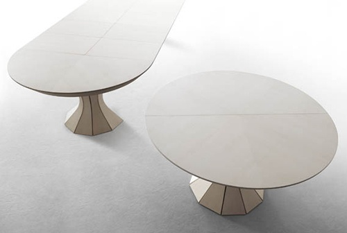 Round Expandable Dining Table – modern Opera by Bauline_image