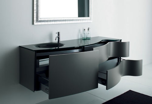 Elegant Black Bathroom Cabinets – Max from Novello_image