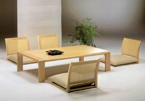 Zaisu Chairs Dining Furniture In Traditional Japanese