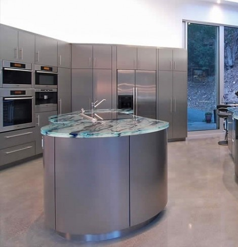 Art Glass Countertops by ThinkGlass Will Make Any Kitchen Come Alive_image