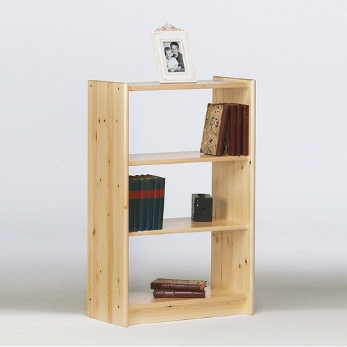 Narrow Living Room Solutions: Aventa 2 Shelf Narrow Bookcase, Bookcases, Pine Solutions