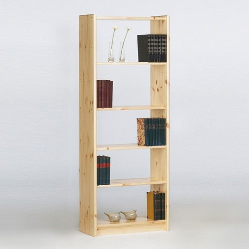 Narrow Living Room Solutions: Aventa 4 Shelf Narrow Bookcase, Bookcases, Pine Solutions