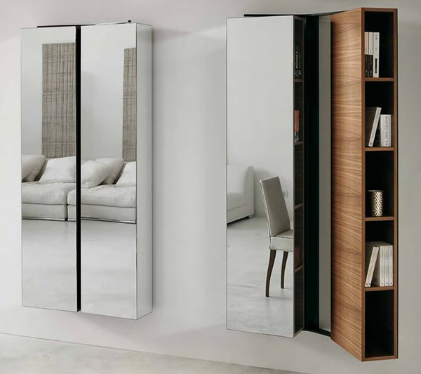 Modern Mirrored Furniture - mirror covered furniture by Porada_image