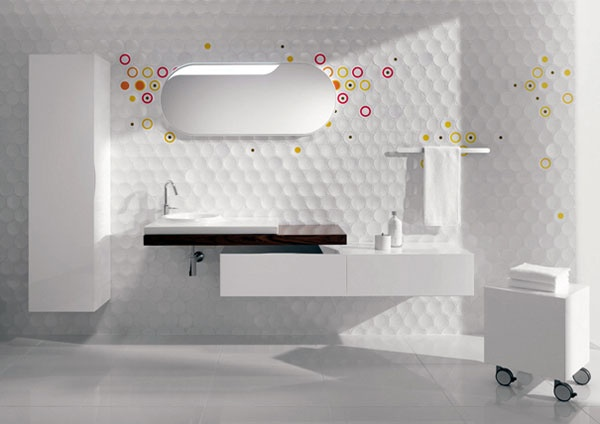 Set Up Your Own Cube&Dot Pattern for a Charming Bathroom_image