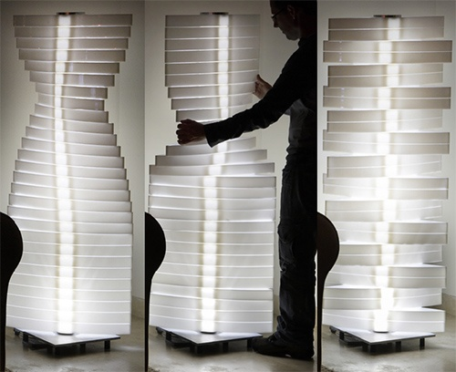 Shape Changing Lamps with rotating lamp shades by Nistor&Nistor_image