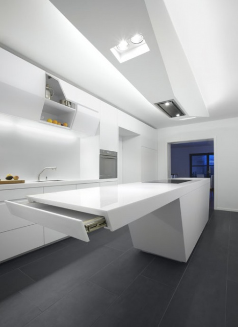Extraordinary jet kitchen by kinzo for High tech kitchen