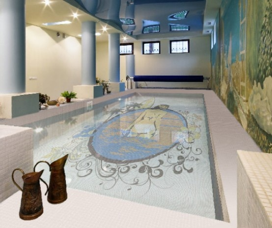 Fascinating Swimming Pool Design with Mosaic Glass Tiles by Glassdecor_image