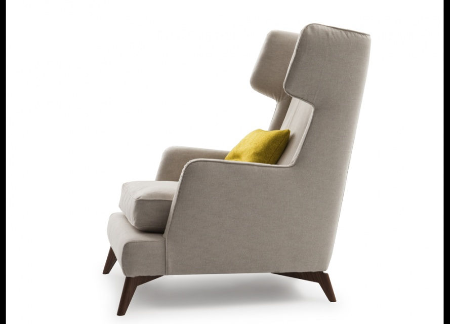 Vibieffe class high back armchair armchairs go modern - Contemporary chairs for living room uk ...