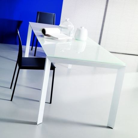 luna white glass extending dining table small dining tables amode