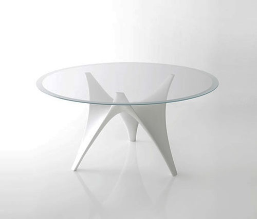 Modern Round Glass Dining Table by Molteni – Arc_image