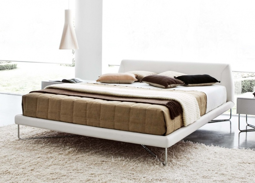 Chocolate Leather Bed Double Beds Go Modern Furniture