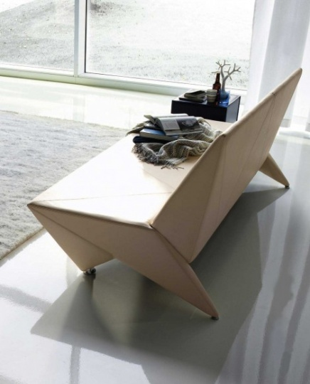 Origami Modern Leather Sofa_image