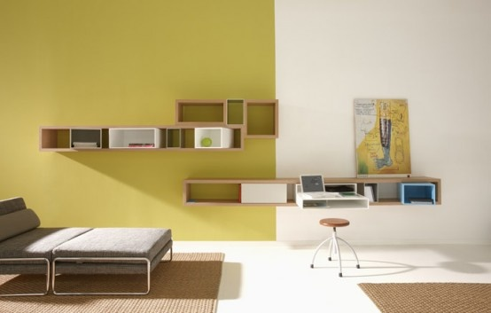 Modern Solid Wood Bookshelves – Lounge from Targa Italia_image