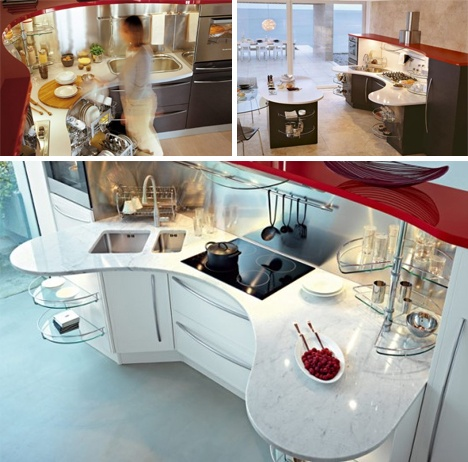 Round Out: Curved Countertops Add Kitchen Surface Space_image
