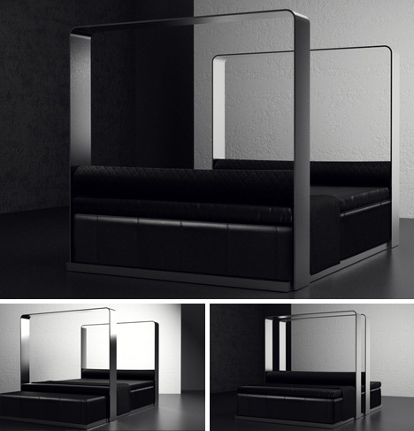 Invisible Canopy: Convertible Classy Sofa + Modern Bed Set_image