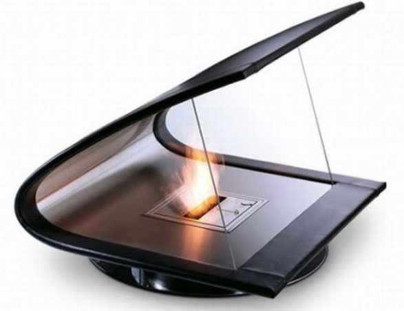 Luxurious Fireplace Boomerang Shaped_image