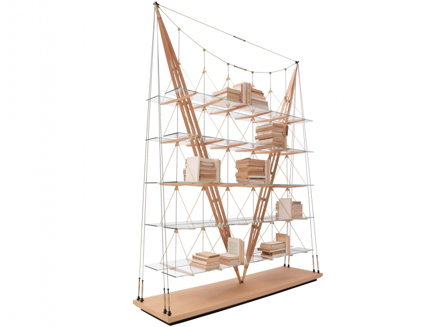 Bookcase in the Shape of a Sailing Ship - Veliero bookcase by Franco Albini_image