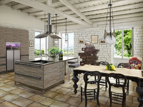 Chic yet Rustic Kitchen Design_image