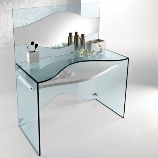 Elegant Transparent Glass Desk – Strata By Tonelli_image